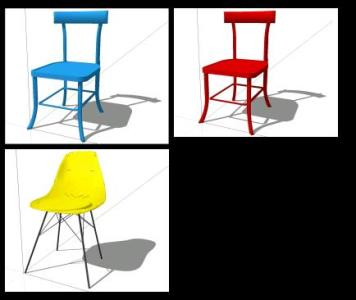 Chairs 3d sketchup