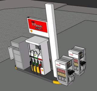 Merchandiser service station oils - 3D