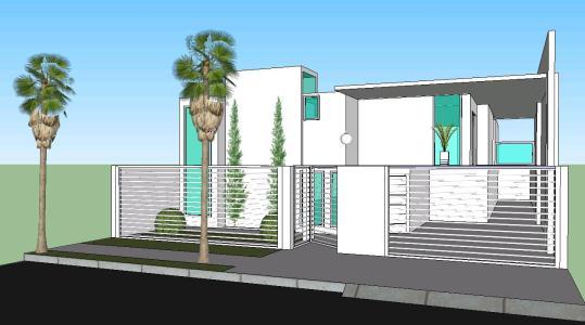 Casa minimalista en skp descargar cad kb for Casa minimalista dwg