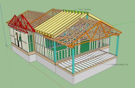Estructura casa ballom frame 3D