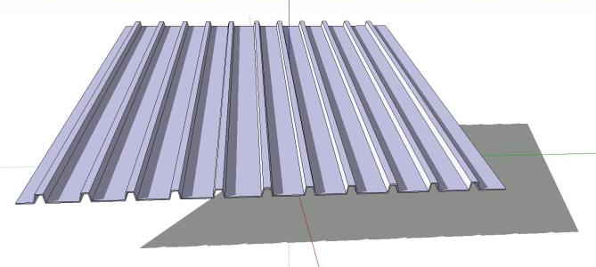 Corrugated sheet cover