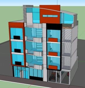 RESIDENTIAL BUILDING - 3D