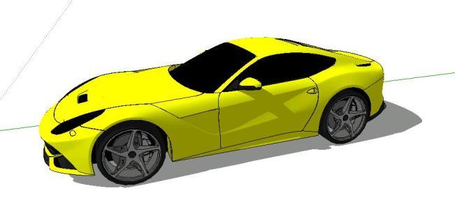 3d super sports car