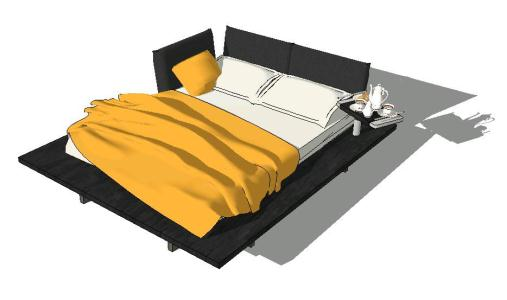 Bed for 2 persones