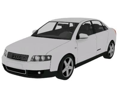Audi A4 vehicle, White 3D Max