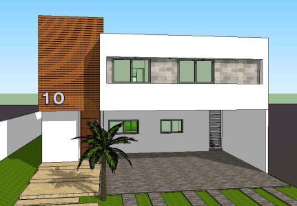 Casa minimalista en skp descargar cad kb for Casa minimalista 90m2