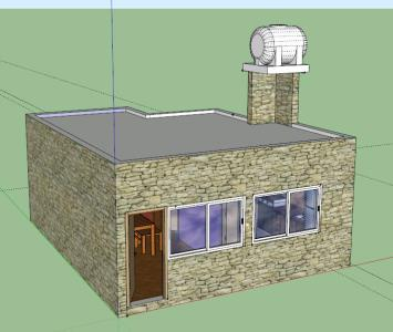 Small house 3D modeling
