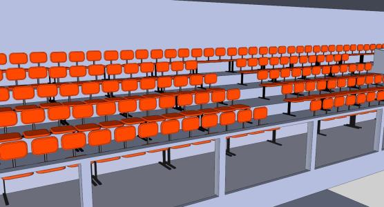 3D Graderia 800 people