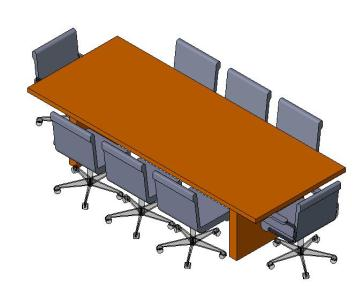 Conference Table 3d In Rfa Cad Download 376 86 Kb