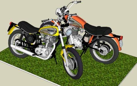 DUCATI SCRAMBLER motorcy- cle 450 - 3D