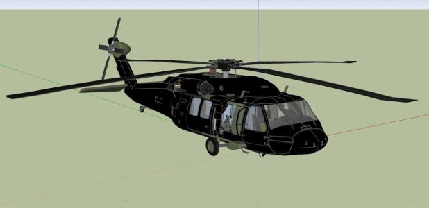 Helicoptero policial - 3D