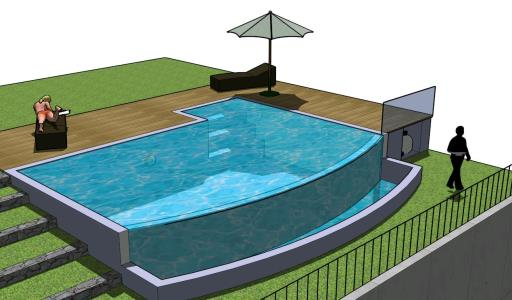 3d pool in skp cad download kb bibliocad for Swimming pool 3d model free download