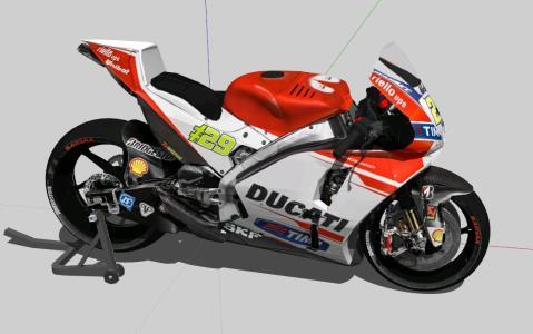 Gp motorcycle iannone - 3D