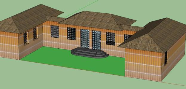 school hostel - 3D
