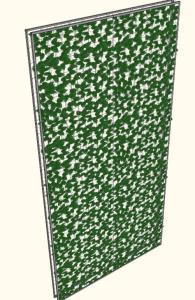 3D celosia green wall