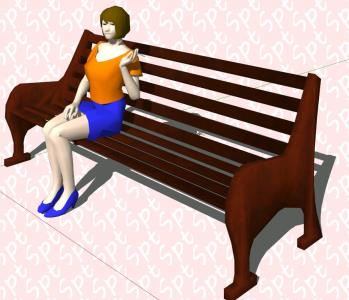 3D person sitting