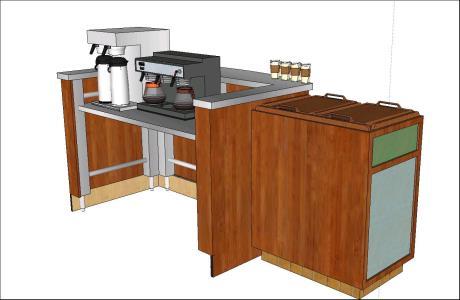 Bar Cafeteria In Skp Cad Download 1 36 Mb Bibliocad