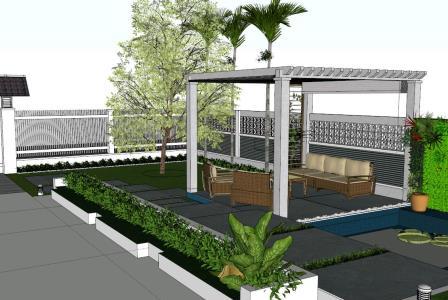Terrace 3d model in SKP   CAD download (29.3 MB)   Bibliocad