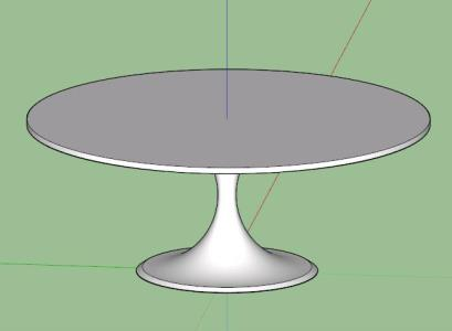 Round outdoor table