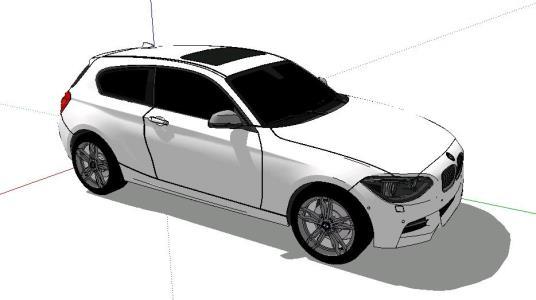Bmw vehicle block sketchup in SKP   CAD (3.8 MB)   Bibliocad
