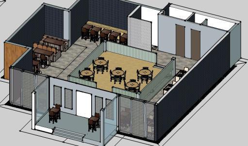 Mobiliario de restaurante en skp descargar cad 5 4 mb for Mobiliario para restaurante