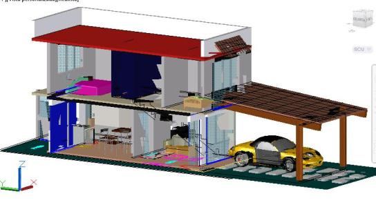 Room house in 3d