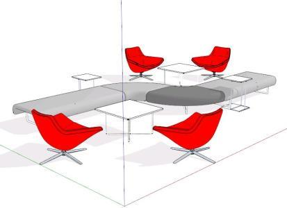 Office table - 3D