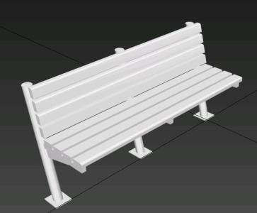BANCA 3d STEEL STRUCTURE AND SEATS WOOD