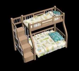 3D double and bunk bed