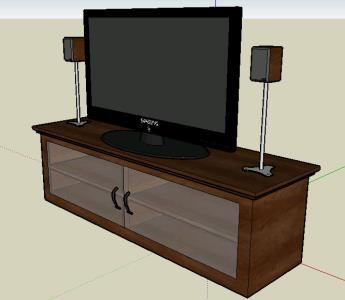 Televisor y Mueble TV