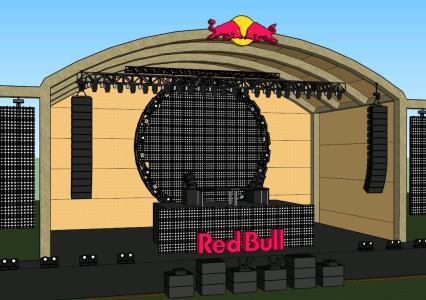 Escenario Artistico Red Bull 3D
