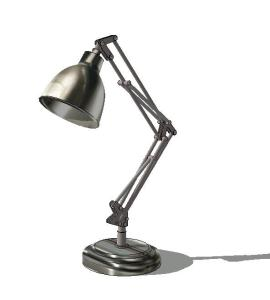 3d desktop articulated lamp