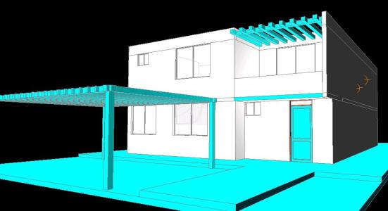 Two-level house 3D