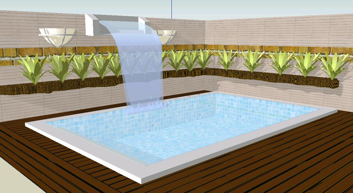 Pool and waterfall in SKP | CAD download (126 1 KB) | Bibliocad