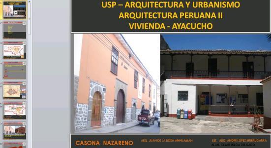 ANALISIS ARQUITECTONICO DE CASONA EN AYACUCHO