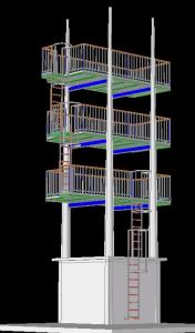 3D TOWER FOR FIREFIGHTERS