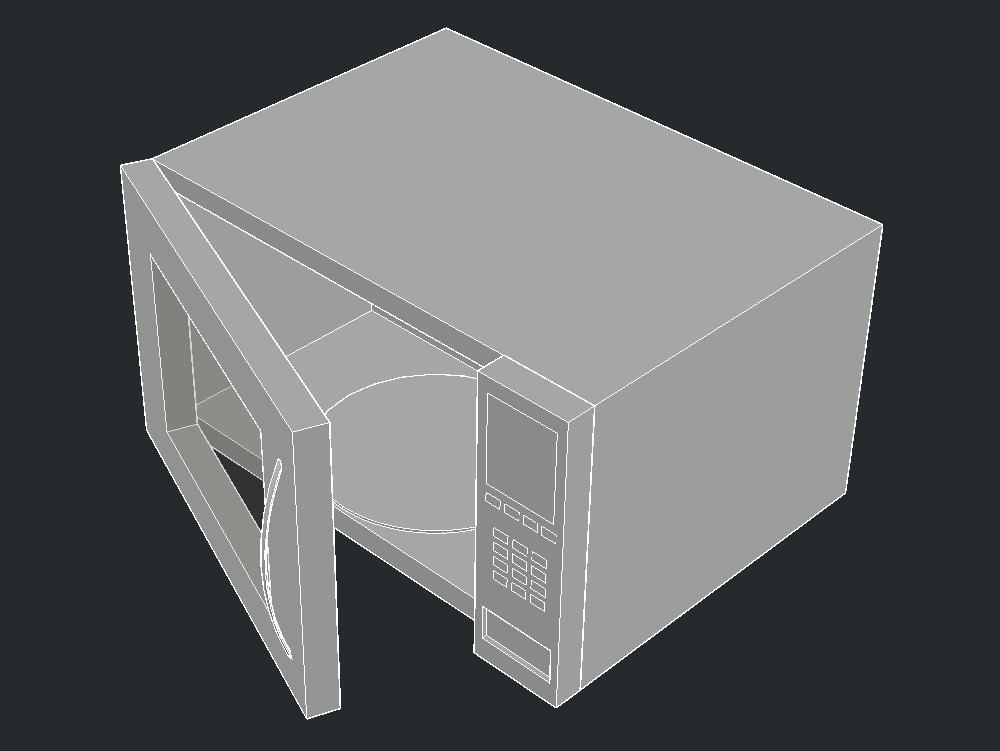 HORNO DE MICROONDAS 3D
