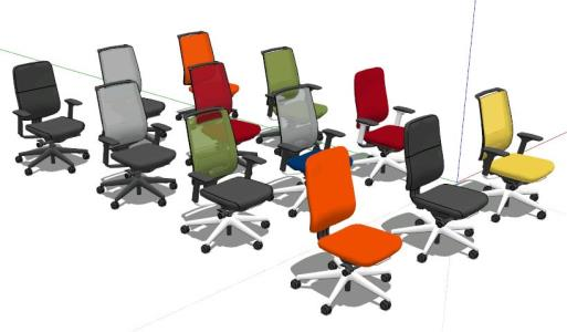 3D office chairs
