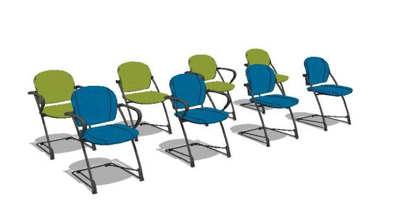 Chairs collection of 3D - 1