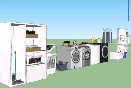 Laundry 3D Furniture