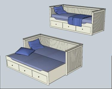 Sofa cama 3d