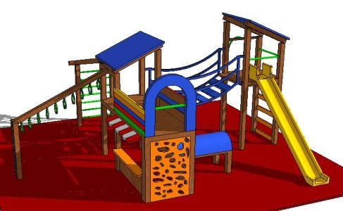 3d Playground In Skp Cad Download 365 77 Kb Bibliocad