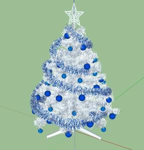White Christmas tree 3d