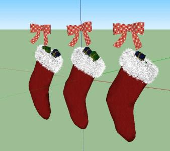 3d Christmas stockings