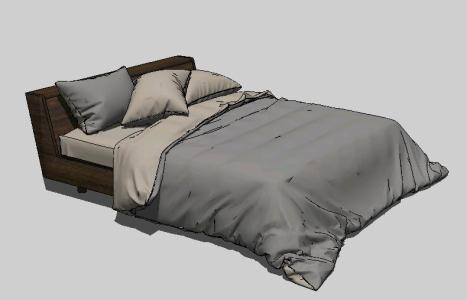 Double Bed 3d