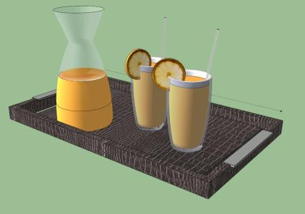 FRUIT - JUICE WITH TRAY