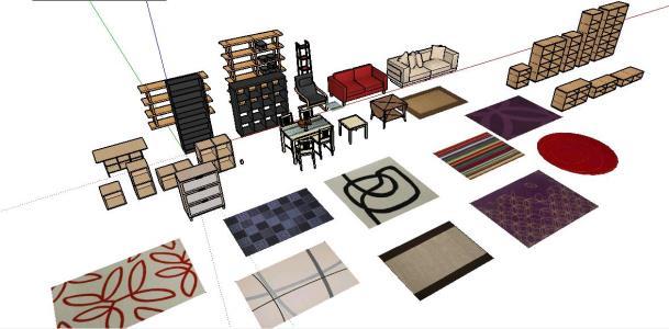 Living Room Furniture 3d Sketchup In Skp Cad 1 01 Mb Bibliocad