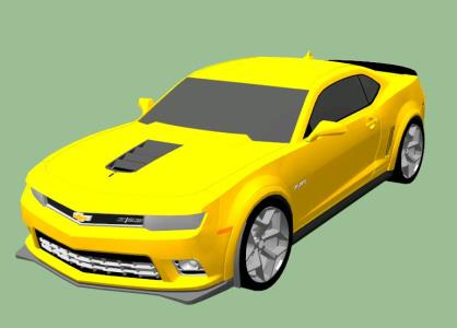 Car 3d 2014 camaro z28