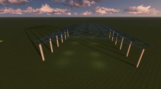 Industrial building roof 30x30