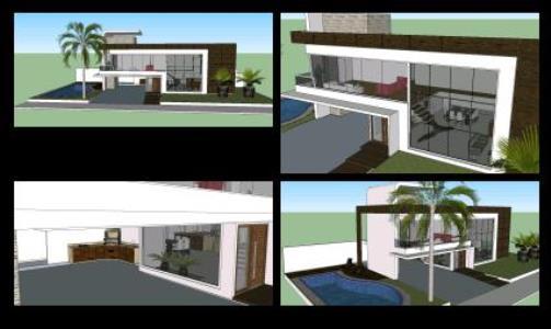 Modern housing sketchup